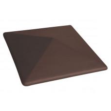 Колпак на столб полимернопесчанный шоколад гладкий