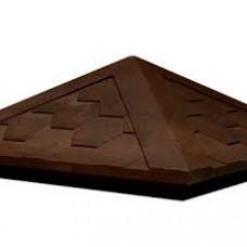 Колпак на столб полимернопесчанный шоколад - соты