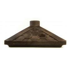 Колпак на столб полимернопесчанный шоколад - соты, с отверстием под фонарь