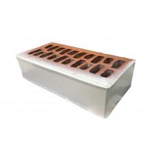 Кирпич облицовочный белый с полимерным покрытием 1 НФ Альтаир (тычок-ложок)